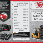 8 1/2″ x 11″ Trifold Brochure For Tire Company Client (Outside)